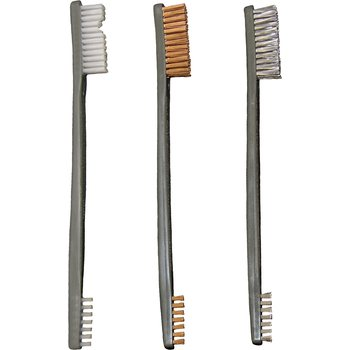 Otis 3 Pack AP Brushes (Nylon/Bronze/Stainless Steel)